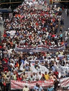 Greece general strike day 1