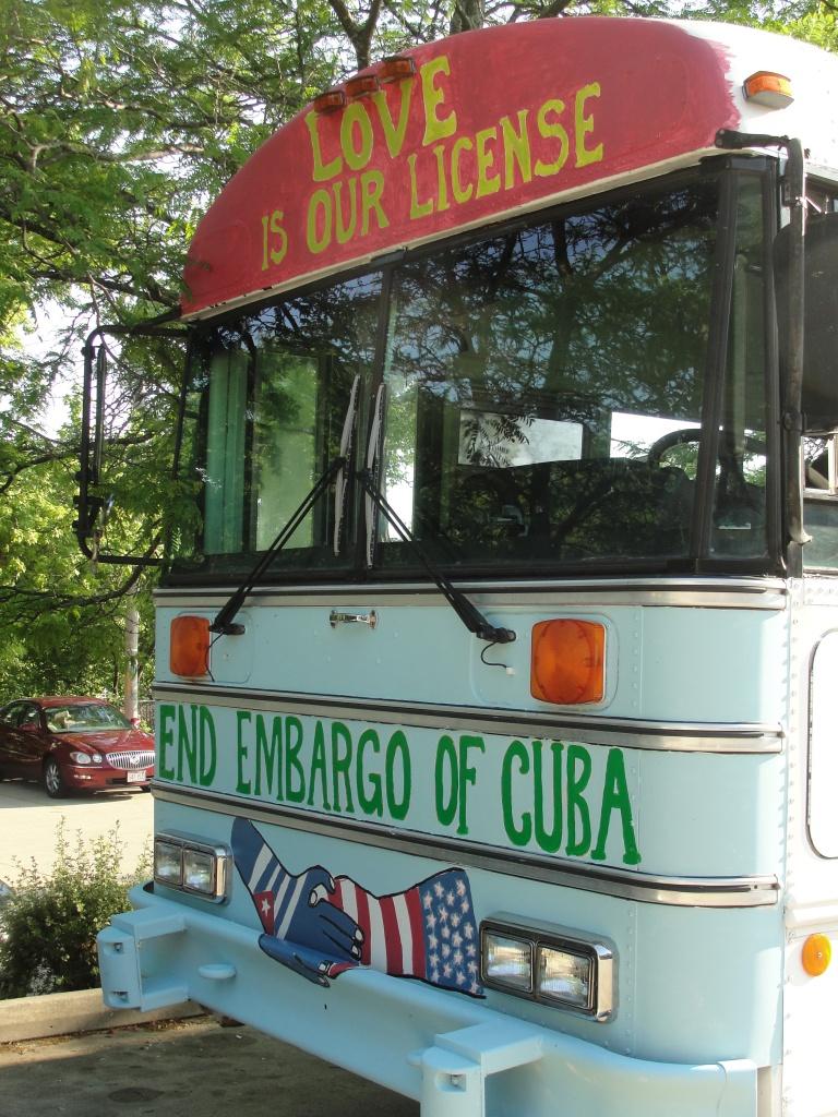 The caravan bus rides on