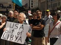 U.S./NATO Out Of Libya protest 8-27-2011, Milwaukee