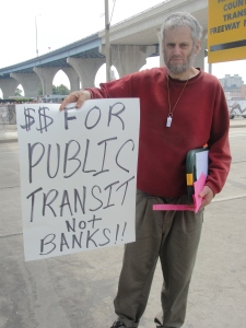 Informational picket about transit cuts at Summerfest July 9, 2011
