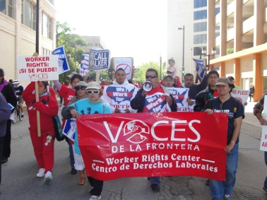 Voces marching on Labor Day 2011 in Milwaukee