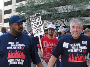 UAW members & allies march in the
