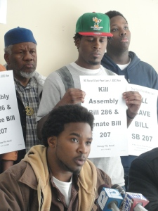 Oct. 28 press conference at Urban Underground in Milwaukee with participants opposing AB 286 and SB 207.