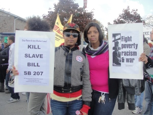 Hundreds march in Milwaukee Oct. 29 to protest Wall Street's greed and racism.
