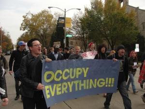 Students & Allies March at UW-Milwaukee Nov. 2.