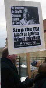Dr. King rally Jan. 16, 2012 Milwaukee, WI.