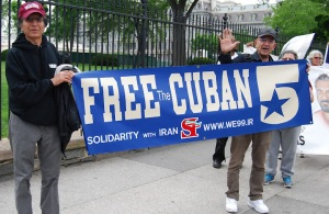 Rally at the White House for the Cuban Five April 21,2012.