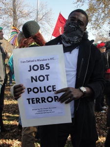 At Occupy The Hood and Occupy Milwaukee rally Oct. 29, 2011.