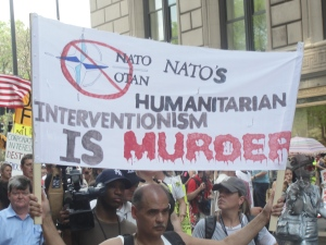 Anti-NATO march in Chicago May 20, 2012.