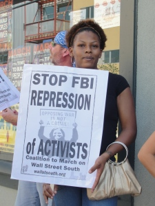 At March on Wall Street South press conference in Charlotte, North Carolina August 31, 2012.