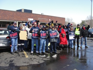 Rally at the main post office in Witchita, Kansas March 24.