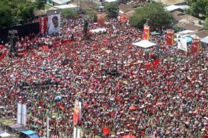 The people of Honduras gather for the launching of the election campaign.