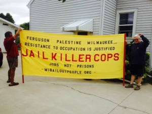 Photo: Wisconsin Bail Out The People Movement, Green Bay, WI August 20, 2014.