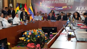 Gathering of ALBA nations with Venezuelan subsidized oil program Petrocaribe earlier this year. (Photo: AVN)