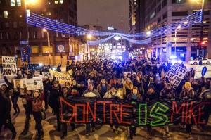 Hundreds march in Milwaukee November protesting Ferguson Grand Jury decision. [Photo: Joe Brusky Photography]