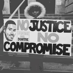 December 13, 2014, Milwaukee. Dontre. Justice. Now.