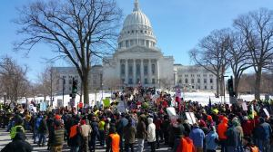 Thousands protest inn Madison Feb. 28, 2015 [Photo: Joe Brusky]