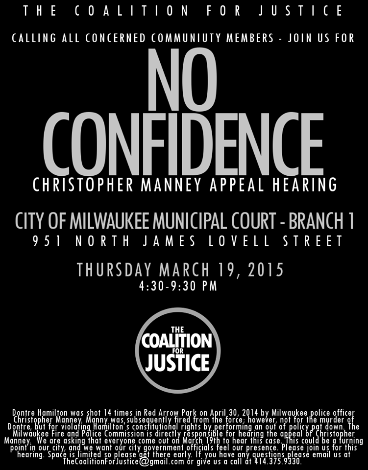 Milwaukee, March 19: No Confidence: Christopher Manney