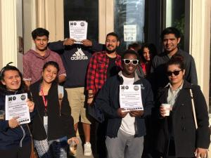 Members of Youth Empowered in the Struggle before hitting the streets May 22 to conduct outreach in a campaign to defeat Wall Street's attempts to take over Milwaukee Public Schools [Photo: YES]