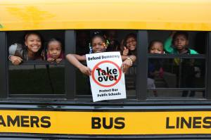 STOP THE MPS TAKEOVER!! 6-9-15 — at Story Elementary. [Photo: Joe Brusky]