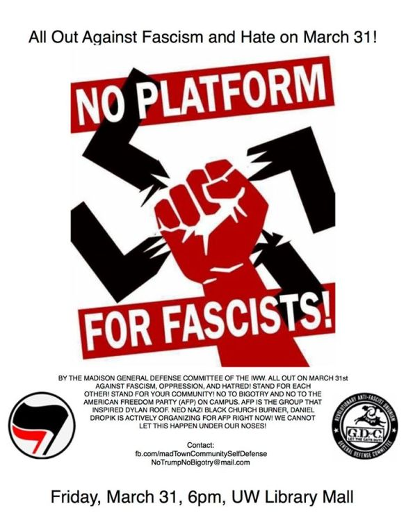 Madison March 31 2017 Smash Fascism