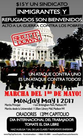 Madison May Day Spanish Poster 2017