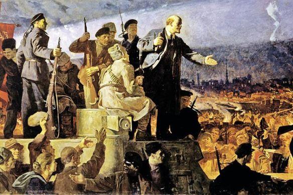 VI Lenin speaking