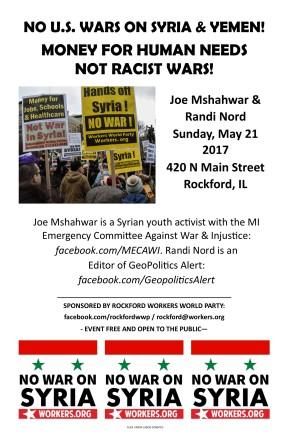 WWP Rockford Joe Randi Poster May 2017