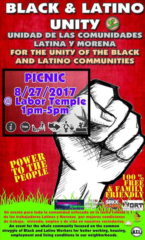 Latino Black Unity Picnic Madison August 27 2017
