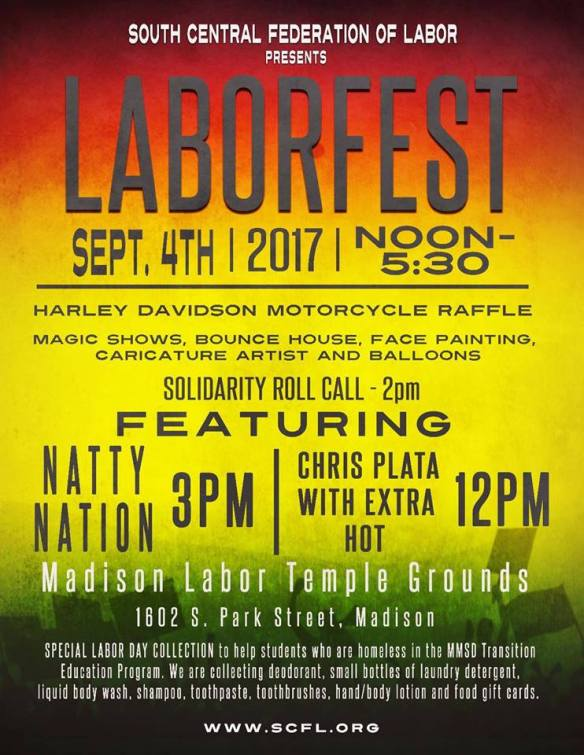 Madison LaborFest September 4 2017