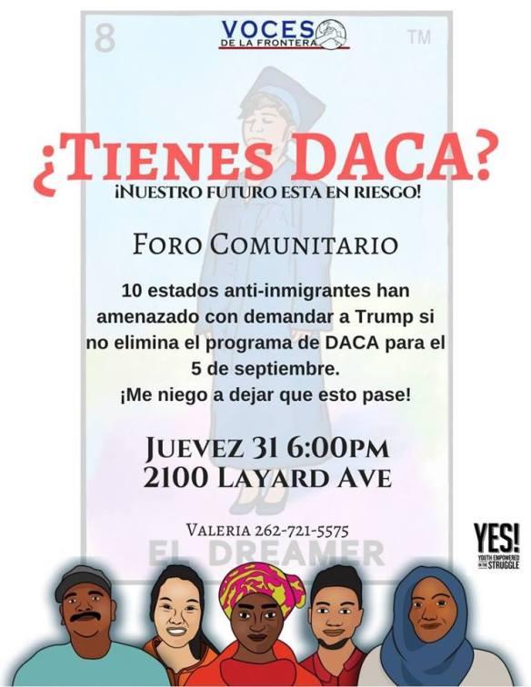 Racine August 31 2017 DACA