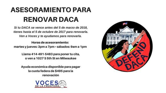 DACA Renewal Voces September 14 2017