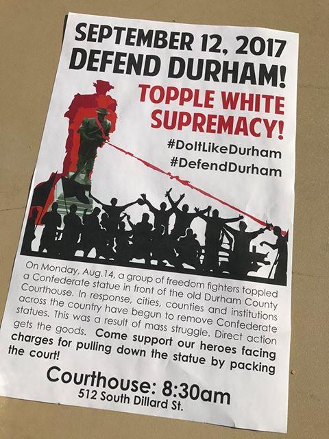 Durham September 12 2017 Poster