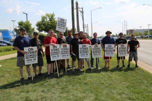 IAM Chicago Auto Mechanics Strike September 18 2017