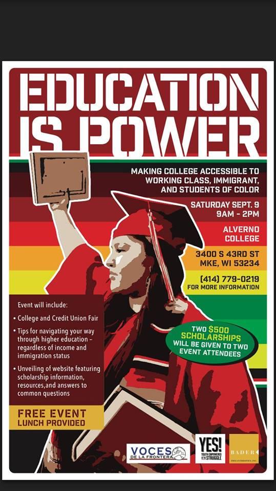September 9 2017 Education Is Power Milwaukee