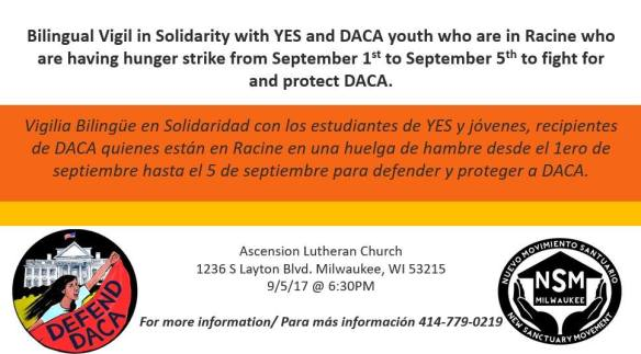 Voces Vigil DACA Milwaukee September 5 2017