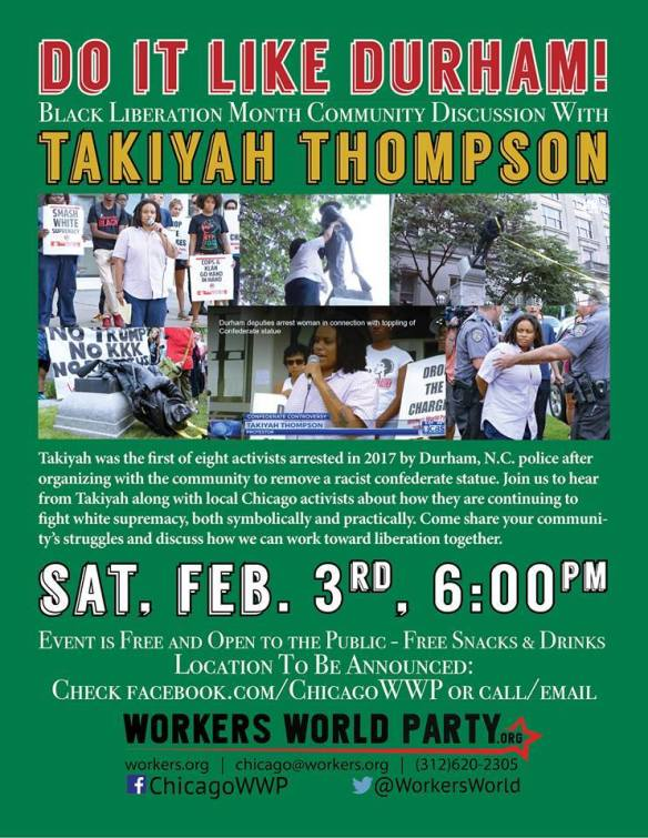 Takiyah Thompson Chicago WWP Feb 3 2017
