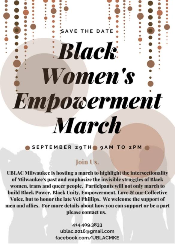 Black Women's March Milwaukee September 2018