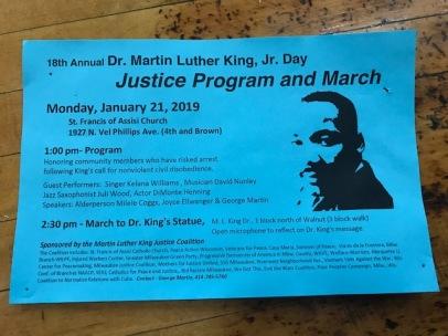 Milwaukee MLK Day 2019 Flyer