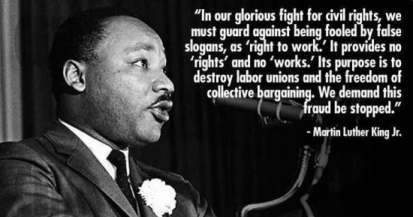 dr king right to work