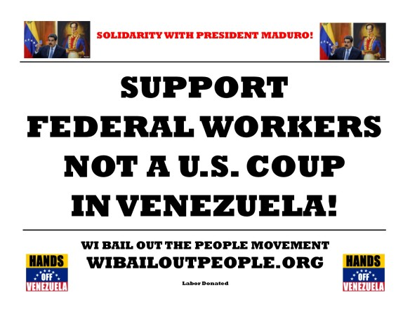 federal workers not u.s. coup venezuela 1 24 19