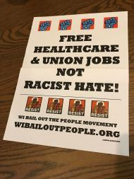 healthcare not racist hate photo placard 1 10 19