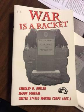 war is a racket unity sheboygan 1 19 2019
