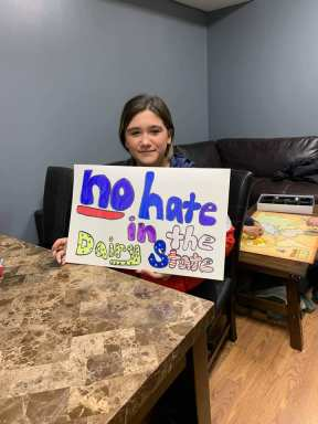No Hate In Dairy State Manitowoc Sign Making 2 16 2019