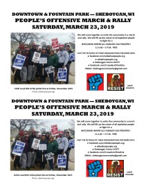 Peoples Offensive Sheboygan March 23 2019 Half Sheet