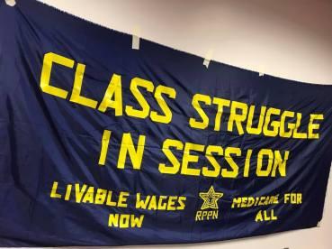 Class Struggle Banner Sheboygan 3 23 19