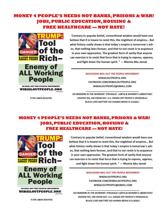 Anti Trump WI BOPM Half Sheet April 26 2019
