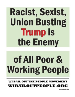 Trump Placard Green Bay WI April 27 2019