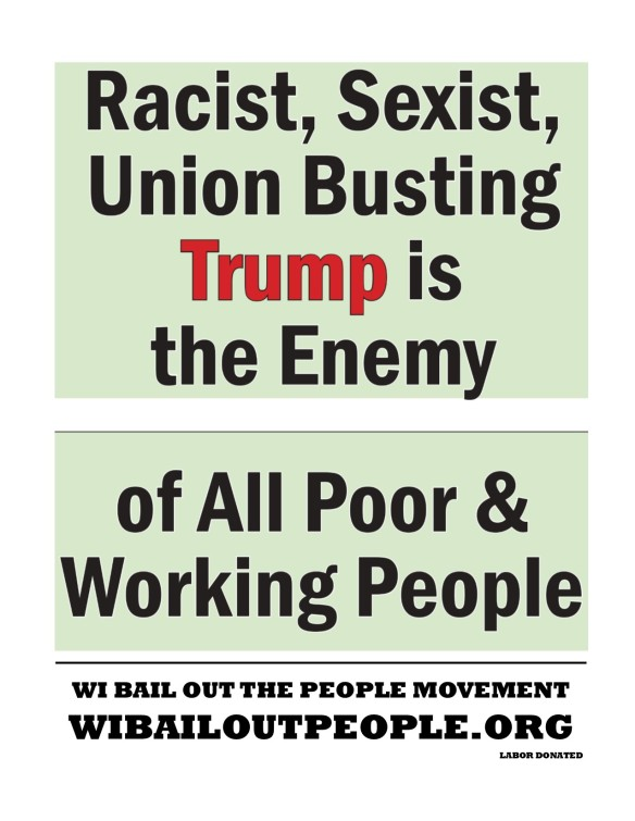 Trump Placard Green Bay WI April 27 2019