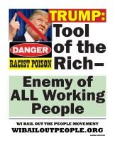 Trump Racist Poison WI BOPM Placard April 24 2019